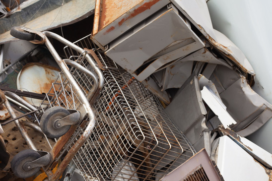 Pile of scrap metal